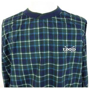 Vtg IZOD Golf Large Pullover Windbreaker Jacket